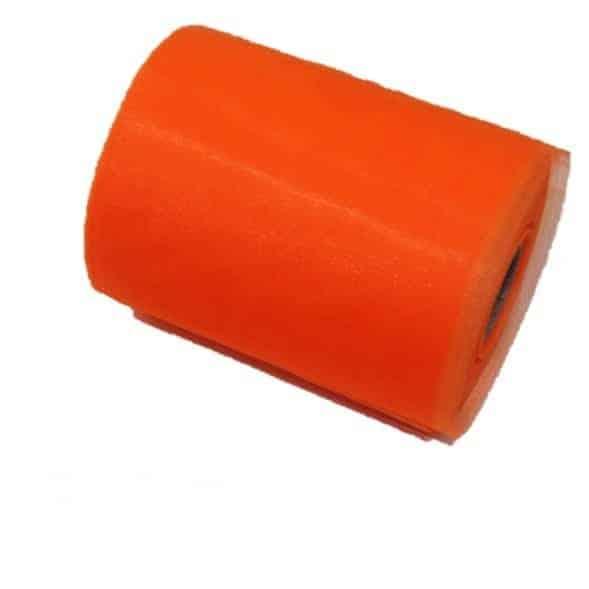 Tul liso anaranjado
