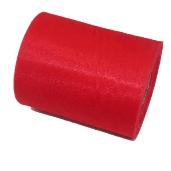 Tul liso color rojo