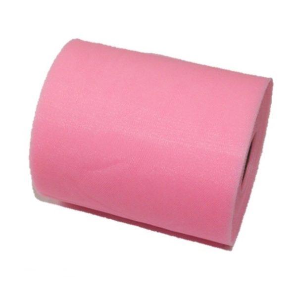 Tul liso rosado