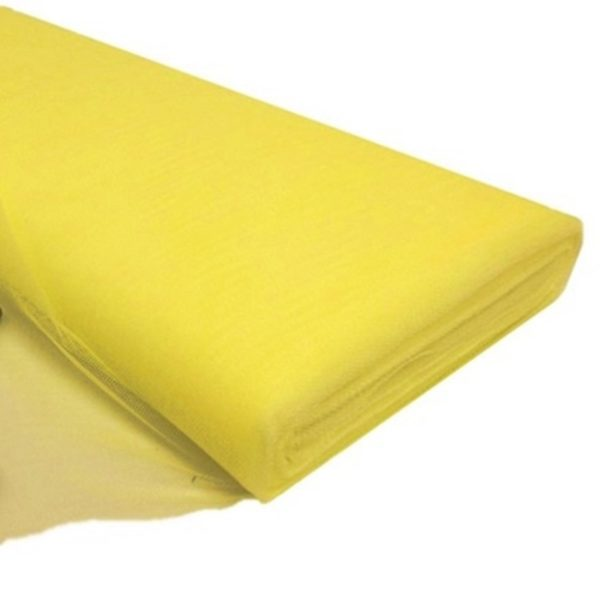 Tul liso por metro color amarillo