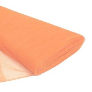 Tul liso por metro color anaranjado