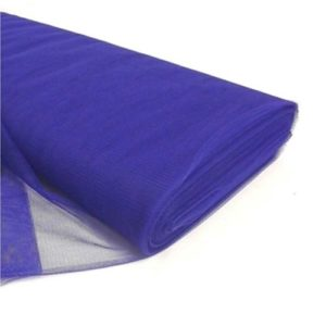 Tul liso por metro color azul rey