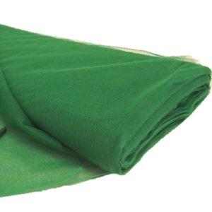 Tul liso por metro verde oscuro