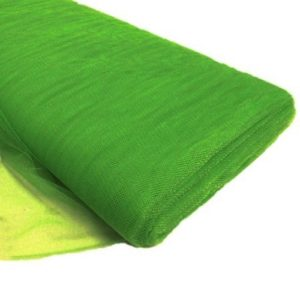 Tul liso por metro color verde cata